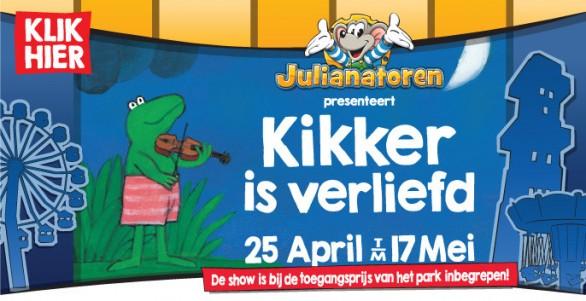 Kom naar de show van Kikker in de Julianatoren!