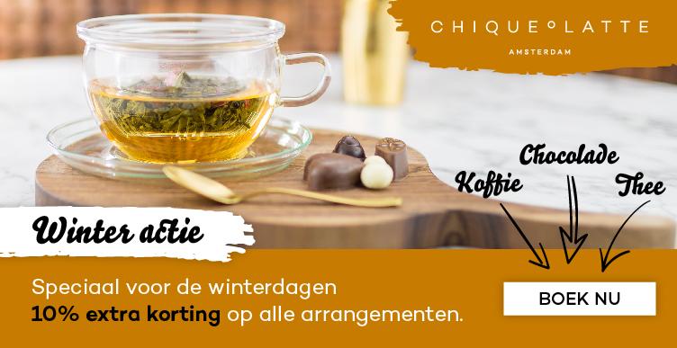 Winteractie: 10% korting op alle arrangementen bij Chique O Latte!