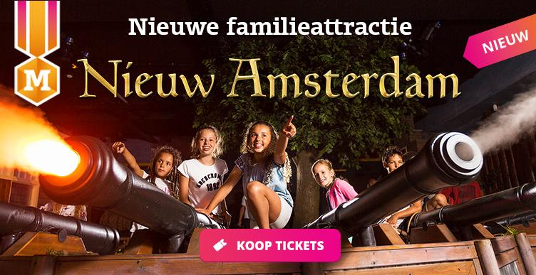 Bezoek de spannende familieattractie Nieuw Amsterdam in Madurodam!