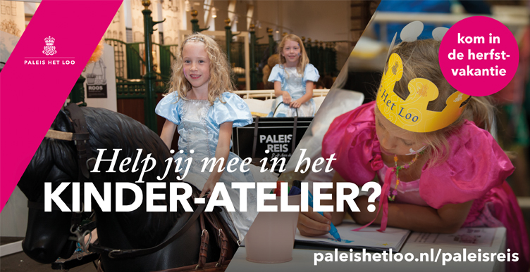 Help jij mee in het kinderatelier van Paleis Het Loo?