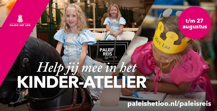 Help jij mee in het kinder-atelier op Paleis Het Loo?