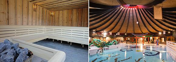 De Bonte Wever heeft een sauna en een buitenbad