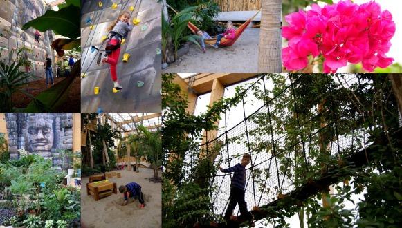 Een tropische beleving in Omnium: zwembad en tropisch bos