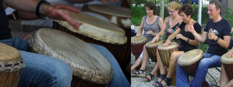 Afrikaanse percussie bij Dununba