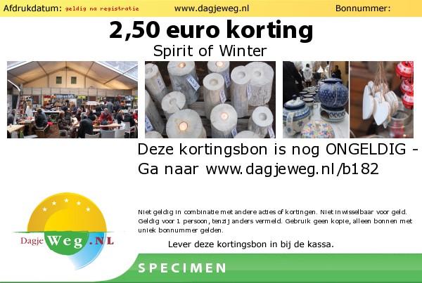 Kortingsbon voor Spirit of Winter 2014