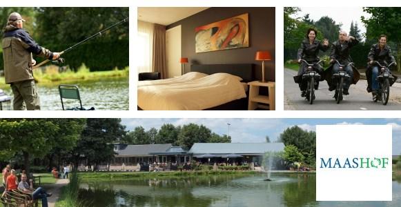Hotel Maashof biedt genoeg vertier, zoals forelvissen en solexen