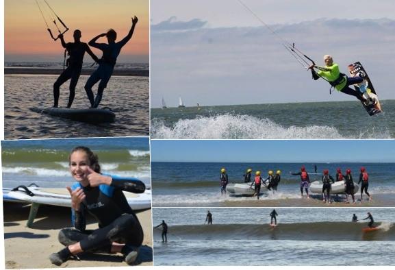 Kitesurfen, powerkiten, brandingkajakken met Vertigo Sports op het strand van Vrouwenpolder
